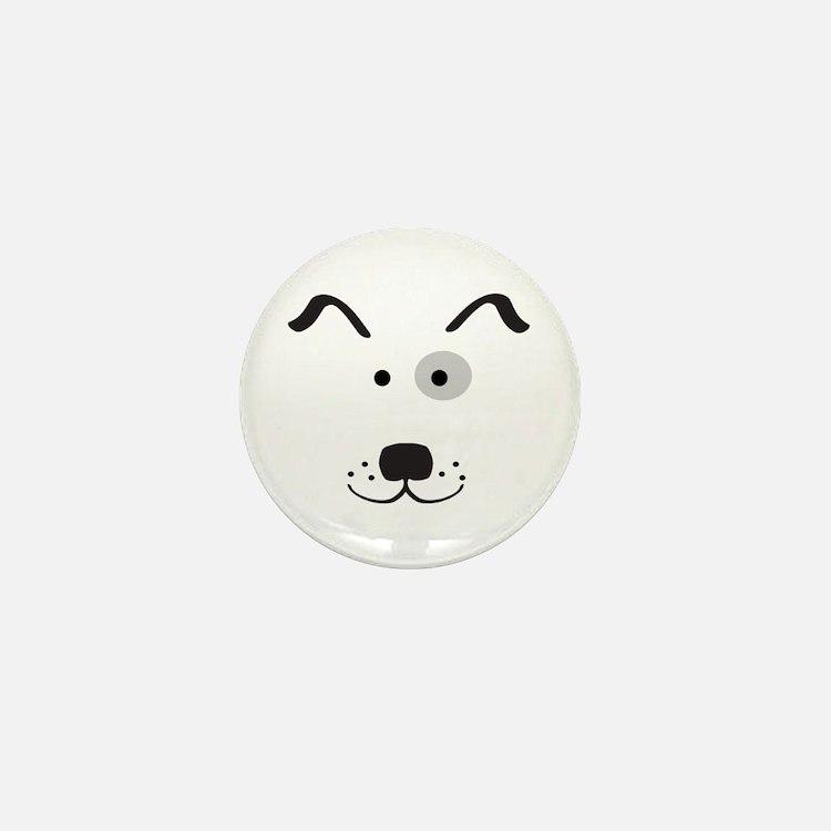 Cartoon Dog Face Mini Button