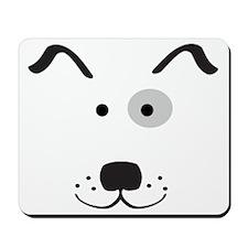 Cartoon Dog Face Mousepad