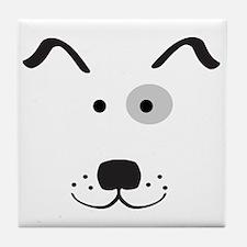 Cartoon Dog Face Tile Coaster