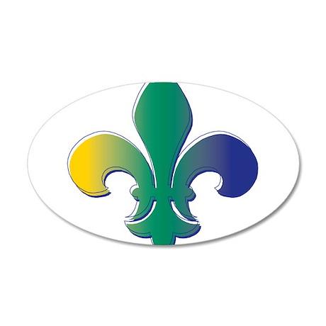 Fleur De Lis tri 38.5 x 24.5 Oval Wall Peel