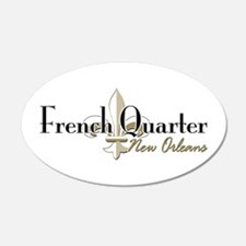 French Quarter New Orleans 22x14 Oval Wall Peel