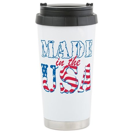 Made in the USA Stainless Steel Travel Mug