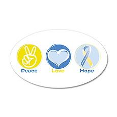 Peace Love Down syn hope 22x14 Oval Wall Peel