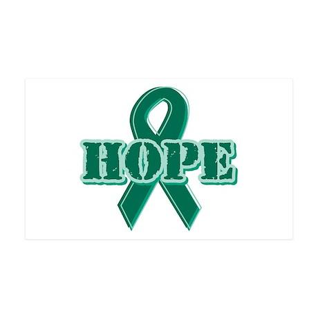 Green Hope Ribbon 38.5 x 24.5 Wall Peel