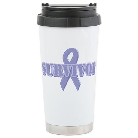 Lavender Ribbon Survivor Stainless Steel Travel Mu