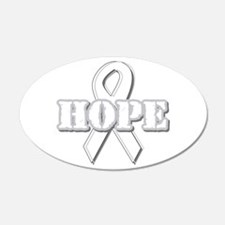 White Hope Ribbon 22x14 Oval Wall Peel