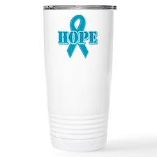 Teal Hope Ribbon Travel Mug