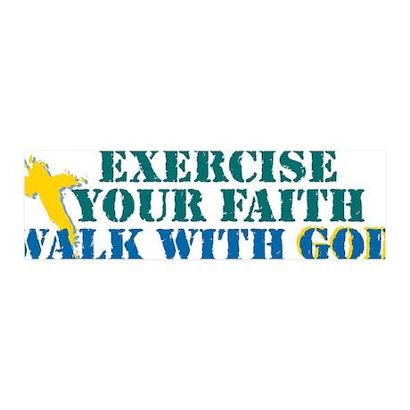Exercise your faith 42x14 Wall Peel