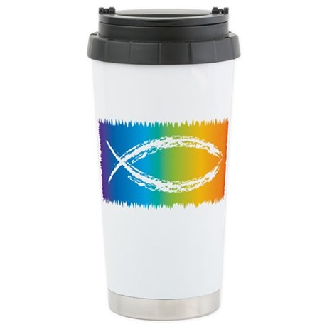 Retro Jesus Fish Stainless Steel Travel Mug