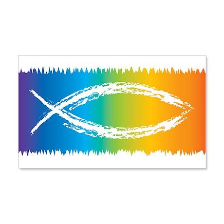 Retro Jesus Fish 22x14 Wall Peel
