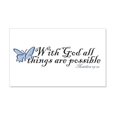 Matthew 19:26 20x12 Wall Decal