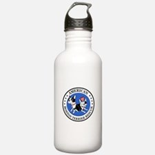 Cute Boston terrier rescue Water Bottle
