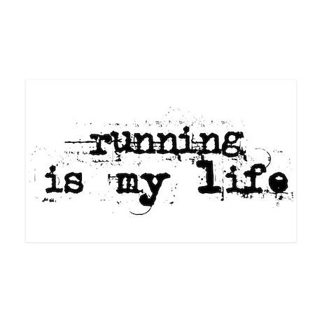 Running is my life 38.5 x 24.5 Wall Peel