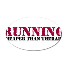 Running therapy red 22x14 Oval Wall Peel