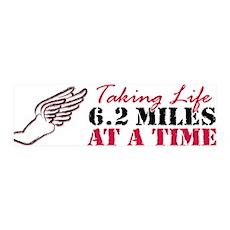 Taking Life 6.2 miles 42x14 Wall Peel