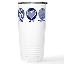 Peace Love Volleyball Travel Mug
