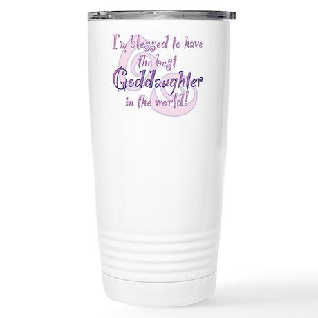 Blessed Goddaughter Stainless Steel Travel Mug