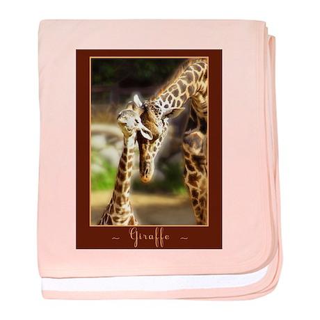 Giraffe Mom Baby baby blanket