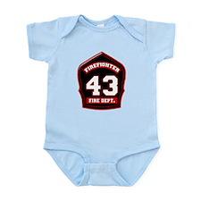 Cute Fire dept Infant Bodysuit