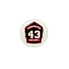 Unique Fire dept Mini Button (100 pack)
