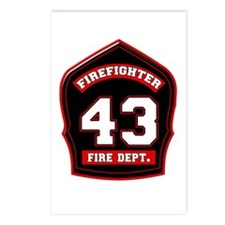 Cute Fire dept Postcards (Package of 8)