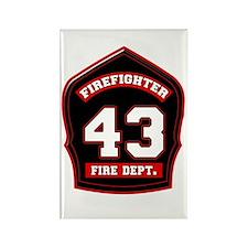 Cute Fire dept Rectangle Magnet (100 pack)