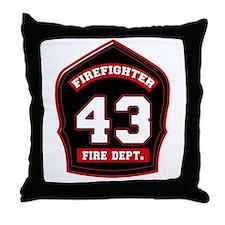 Cute Fire dept Throw Pillow