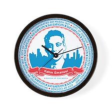 Mayor Rahm Wall Clock