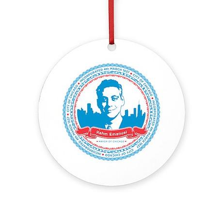 Mayor Rahm Ornament (Round)