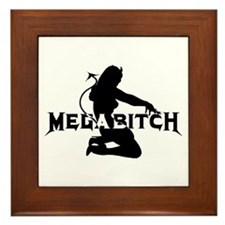Cute Megabitch Framed Tile