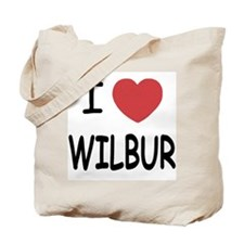 I heart Wilbur Tote Bag