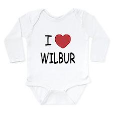 I heart Wilbur Long Sleeve Infant Bodysuit