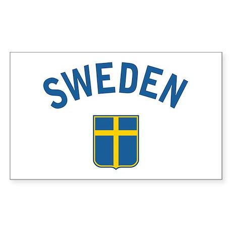 Sweden Rectangle Sticker