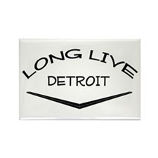 Cute Detroit custom Rectangle Magnet