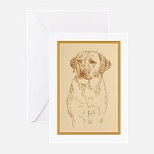 Yellow Labrador Retriever Greeting Cards (Pk of 20