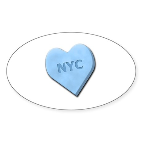Sweetheart NYC Sticker (Oval 10 pk)