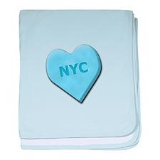 Sweetheart NYC baby blanket