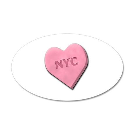 Sweetheart NYC 22x14 Oval Wall Peel