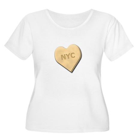 Sweetheart NYC Women's Plus Size Scoop Neck T-Shir