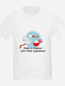 Stork Baby Poland England T-Shirt