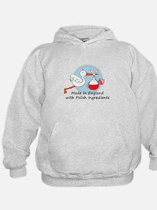 Stork Baby Poland England Hoodie