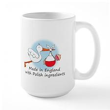 Stork Baby Poland England Mug