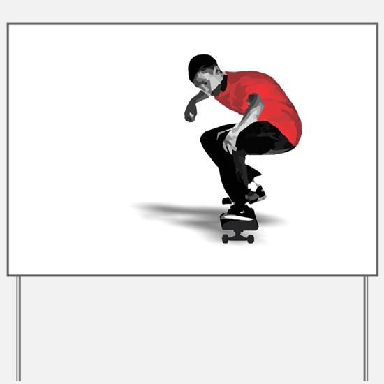Skater Yard Sign