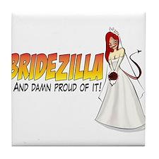 Redhead Bridezilla Tile Coaster