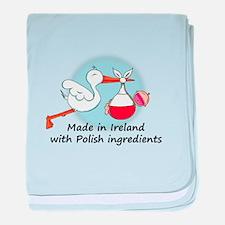 Stork Baby Poland Ireland baby blanket