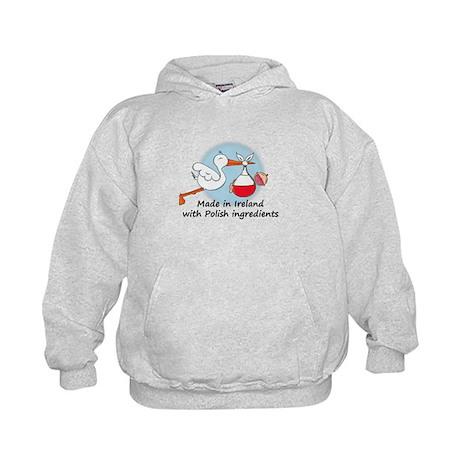 Stork Baby Poland Ireland Kids Hoodie