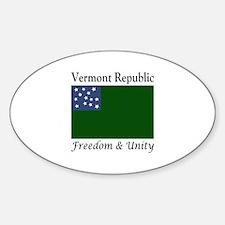 Vermont Republic Sticker (Oval)
