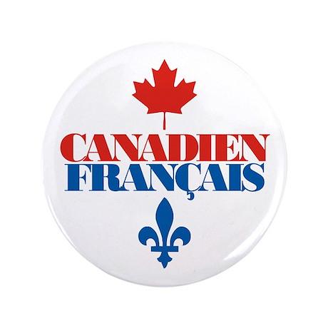 """Canadien Francais 2 3.5"""" Button"""