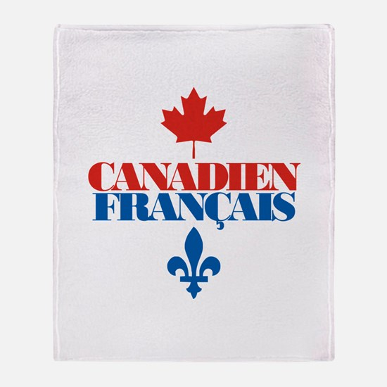 Canadien Francais 2 Throw Blanket