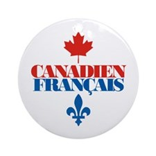 Canadien Francais 2 Ornament (Round)